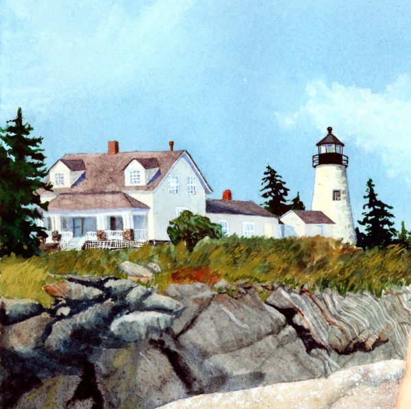 lighthouse, Pemaquid light, Pemaquid Point, Maine lighthouse