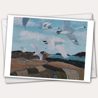 WIld Swans by Edna St. Vincent Millay, swans flying, aerial view of fields, aerial view house, bird's eye view coast, patchwork bird, patchwork of fields, bird flight, swan flight, wild swan in flight, trumpeter swan flying, swan painting