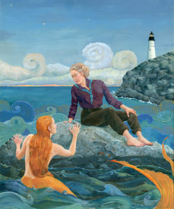 Maine Mermaid painting. Listen to your inner mermaid