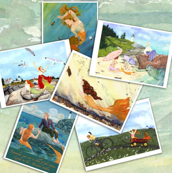 Collection of Maine Mermaid Greeting Cards