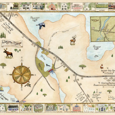 Wayne Town Map Fine Art Print
