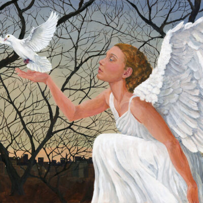 Angel with Peace Dove Fine Art Print